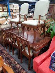 Sale 8769 - Lot 1041 - Georgian Style 9 Piece Dining Suite inc Table with 6 Chairs and 2 carvers