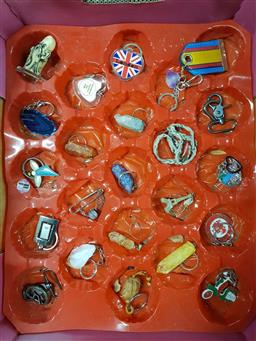 Sale 9176 - Lot 2301 - Box of gem and other keyrings