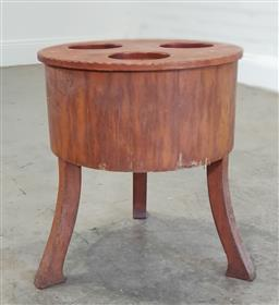 Sale 9188 - Lot 1402 - Elevated timber wine bucket (h52 x d44cm)