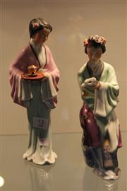 Sale 7953 - Lot 82 - Pair of Chinese Republic Period Porcelain Figures