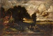 Sale 8107B - Lot 16 - British school - circle / after John Constable 1776 - 1837 oil on canvas - unframed