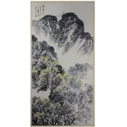 Sale 8268 - Lot 10 - Shi Lu Signature Watercolour Scroll