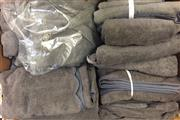 Sale 8310A - Lot 391 - Two bales of grey towels, various sizes, including a robe