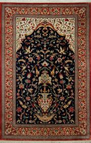 Sale 8406C - Lot 33 - Superfine Pure Silk Persian Qum 210cm x 132cm