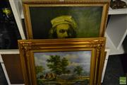 Sale 8518 - Lot 2060 - Collection of Assorted Framed Prints and Original Landscape Oil Painting
