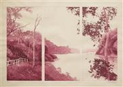 Sale 8606A - Lot 5098 - Peter Hickey (1943 - ) - Untitled (Triptych River Scene), 1975 34.5 x 52cm