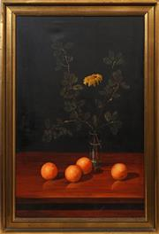 Sale 8668 - Lot 2024 - Artist Unknown, - Still Life with Oranges, oil on canvas, 103 x 73cm, s.l.r