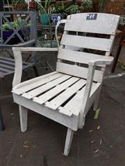 Sale 8740 - Lot 1201 - White Painted Timber Outdoor Chair