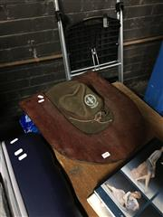 Sale 8741 - Lot 1078 - Vintage Boy Scout Hat in Holder