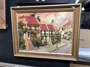 Sale 8865 - Lot 2068 - Jeanette Stedman, Rosy Gold, Paddington oil wash with ink, frame size - 48 x 61cm, signed lower right