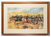 Sale 8873A - Lot 71 - After Caton Woodville, The Charge of the Light Brigade, chromolithograph.