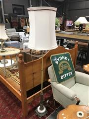 Sale 8889 - Lot 1314 - Metal Standard Lamp With Ornate & Marble Base