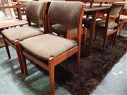 Sale 8930 - Lot 1049 - Goo Set of Early Parker Knoll Upholstered Dining Chairs