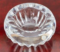 Sale 9099 - Lot 244 - A Baccarat circular glass ashtray with slice decoration. Diameter 12cm. (chip to side)
