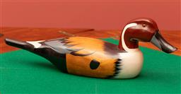 Sale 9260M - Lot 22 - A painted timber duck L 42cm