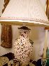 Sale 7383 - Lot 49 - A pair of Oriental Cherry blossom table lamp with shade