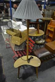 Sale 8134 - Lot 1082 - Standard Lamp with Table Base
