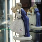 Sale 8236 - Lot 10 - Bing & Grøndahl Figure Group of a Young Courting Couple