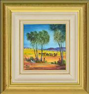 Sale 8349 - Lot 553 - Kevin Charles (Pro) Hart (1928 - 2006) - Rest Time 20 x 18.5cm