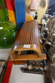 Sale 8362 - Lot 2446 - Oriental Timber and Bamboo Pillows (3)