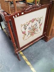 Sale 8566 - Lot 1253 - Tapestry Front Fire Screen