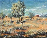 Sale 8722A - Lot 5096 - Edward (Ted) Herman (1922 - 2008) - Outback Landscape 44 x 54cm