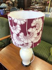 Sale 8801 - Lot 1555 - Retro Table Lamp With Floral Fabric Shade
