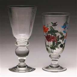 Sale 9098 - Lot 453 - Two c.19th Style Oversize Drinking Glasses, H:22cm