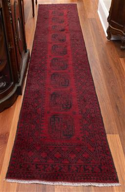 Sale 9190W - Lot 70 - Hand-knotted Persian pure wool runner (380 x 73cm)