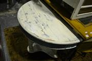 Sale 8093 - Lot 1483A - White Painted Demi-Lune Table