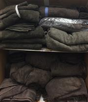 Sale 8310A - Lot 393 - A large quantity of brown towels, various sizes, including robes