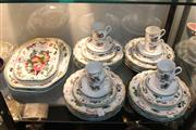 Sale 8379 - Lot 121 - Mottahedeh Duke of Gloucester 5-Piece Place Setting for 8