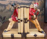 Sale 8435A - Lot 48 - A pair of Italian plaster book ends in Shakespearean pose