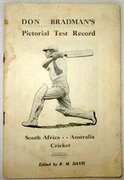 Sale 8460C - Lot 8 - R.M. Davis (ed). Don Bradman's Pictorial Test Record. South Africa…Australia Cricket (1931–32). 94 pages. Probably missing covers, c...