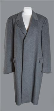 Sale 8493A - Lot 14 - An Aquascutum wool-mix grey mens coat, size regular 44