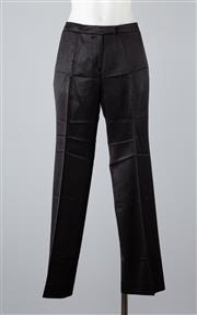 Sale 8891F - Lot 99 - A pair of Emporio Armani lustrous black wool-blend pants, approx size 10