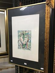 Sale 8779 - Lot 2079 - Eiichi Shibuya - Portrait colour etching ed38/50, 61 x 41cm (frame) , signed lower right -