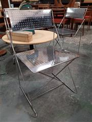 Sale 8872 - Lot 1089 - Set of 4 Chrome by Nouva X Line Chairs by Magis