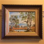 Sale 8878T - Lot 48 - Namikos, Oil Painting of an Australian Bush Scene Dimensions of Frame - 35.5cm x 31cm