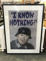 Sale 8990 - Lot 2058 - Australian Political Poster. I  Know Nothing- John Howard & Sergeant Schulz Poster, frame: 103 x 76 cm