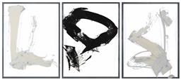 Sale 9187JM - Lot 5099 - LAWRENCE WONG (3 WORKS) Untitled (Abstract) acrylic on plastic 126 x 93 cm, each unsigned