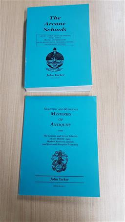 Sale 9176 - Lot 2361 - 2 Volumes by Yarker, J. The Arcane Schools; n Scientific & Religious Mysteries of Antiquity