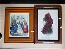 Sale 9176 - Lot 2270 - Two French fashion plates c 1855