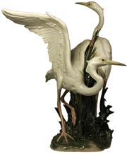 Sale 8065 - Lot 61 - Lladro Herons Figure Group