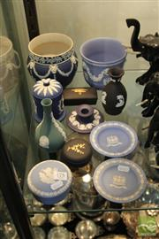 Sale 8217 - Lot 175 - Wedgwood Jasper Ware Vases & Pins Dishes