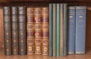 Sale 8435A - Lot 49 - A small group of leather bound books including Hallem The Middle Ages In three volumes, London 1856, The Ingoldsby Legends in three..