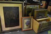 Sale 8495 - Lot 2082 - Collection of Artworks incl Engraving of Mail Steamer at Sea, signed Scholl