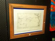 Sale 8640 - Lot 2076 - Limited Edition 1753 Map Print 445/500
