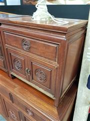 Sale 8700 - Lot 1008 - Chinese Rosewood Bedside