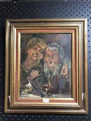 Sale 8789 - Lot 2082 - William Easter - Wine and grapes. 1971, oil on board, 41 x 35cm (frame), signed lower right